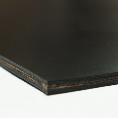 Heavy Black Conveyor Belt Rubber Sheet 4 x 10 x 0.3 Inches 9 Ounces Black New