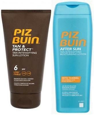 Piz Buin TAN INTENSIFIER LOTION DUO SPF 6  +  TI Aftersun for Faster Tanning