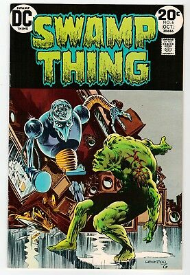 DC - SWAMP THING #6 - Wrightson Art - FN+ Oct 1973 Vintage Comic