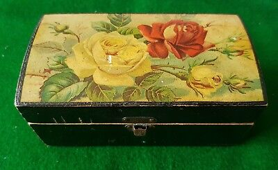 Old Late Mauchline-Type Ware Clark's Anchor Sewing-Cotton Box Pictorial Cover