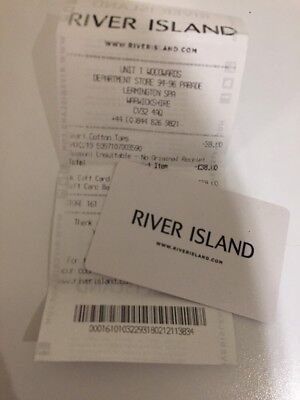 River Island Gift Card £38.00 Expiry Date Feb 2019