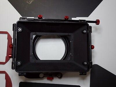 Shoot35 professional 16x9 swing away matte box with 4x4 filter trays and flags