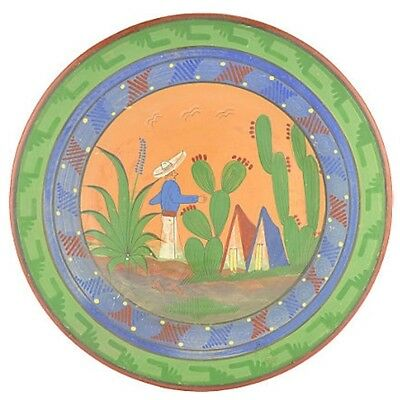 """Vintage Mexican Opaco Wall Platter 16"""""""