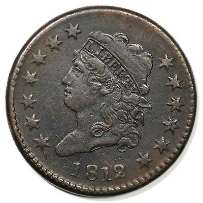 1812  Large Date Classic Head Large Cent Coin 1c