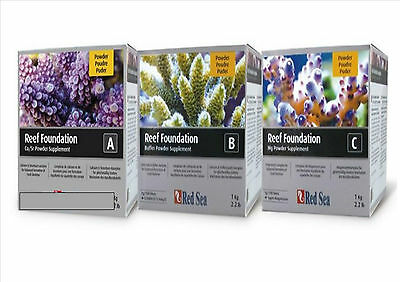 Red Sea Reef Foundation 1 of Each  A  B  C 1 KG BOX Set  Calcium Kh & Magnesium