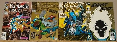 Gold 2nd print variant lot Fantastic Four 347 348 & Ghost Rider 5 15 high grade