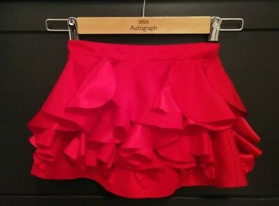 M&S autograph collection girls red ruffle skirt 18-24 months