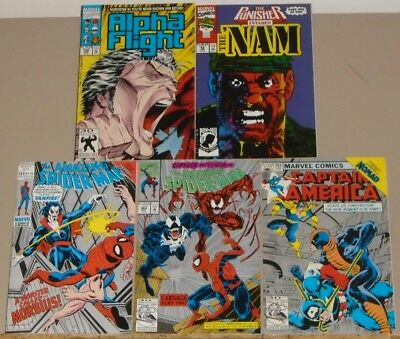 Amazing Spider-Man 101 362, Captain America 282, Alpha Flight 106 & Nam 52 2nds