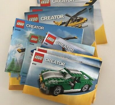 LEGO Creator Mixed Lot Of Instruction Book Manuals ONLY