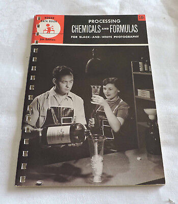 Kodak Data Book Processing Chemicals & Formulas for Black & White Photo - C3104