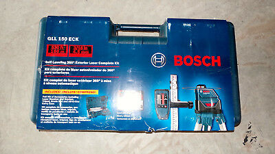 New Bosch GLL 150 ECK Self-Leveling 360° Degree Exterior Laser Complete Kit