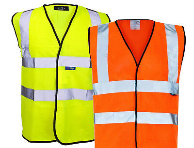 Hi Vis Viz Vest High Visibility Waistcoat  Yellow Orange