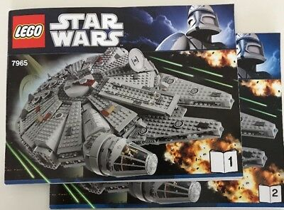 LEGO Star Wars 7965 Millenium Falcon Instruction Books *Manuals ONLY