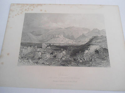 Ephesus ETCHING RELIGIOUS PICTURE Greece Original Engraved Fisher Son London