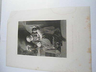 1 Samuel 3.8 ETCHING RELIGIOUS PICTURE Original Engraved Fisher Son London BIBLE