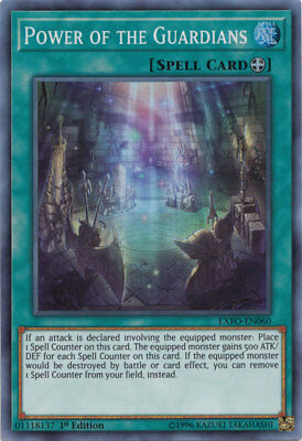 x1 Power of the Guardians - EXFO-EN060 - Super Rare - 1st Edition Yu-Gi-Oh! M/NM