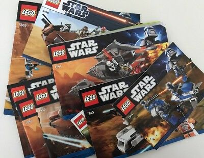 LEGO Star Wars Mixed Lot #1 Of Instruction Book Manuals ONLY