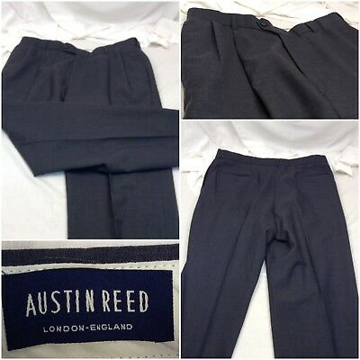 Pants Austin Reed Dress 2 Pleat 36x32 Dark Gray Made In London Mint A138