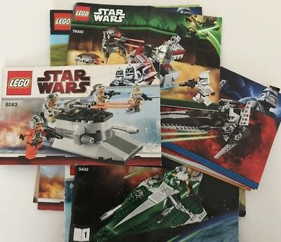 LEGO Star Wars Mixed Lot #2 Of Instruction Book Manuals ONLY