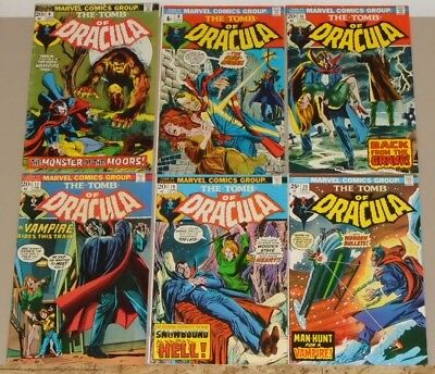Tomb of Dracula 6 9 16 17 19 & 20 lot of 6 1973 Blade, Mark Jewellers