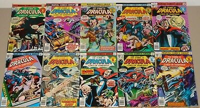 Tomb of Dracula 51-60 complete run of 10 Blade origin (#58) 1st son of Dracula