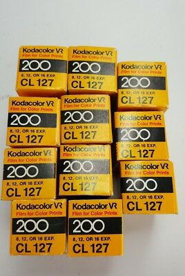 11 Rolls Kodacolor Vr Iso 200 Cl127 Color Print Film Dated 1986/87 Selling As-Is