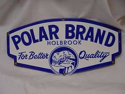 Polar Brand Ice Cream Holbrook Die Cut Porcelain Advertising Large Sign