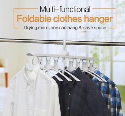 Magic Plastic multifunctions unique cloths hanger with 8 hangers
