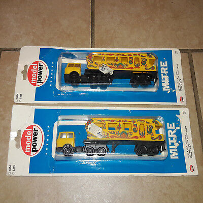 Vintage Model Power HO Scale Circus Truck 5384 5385 - Lot of 2
