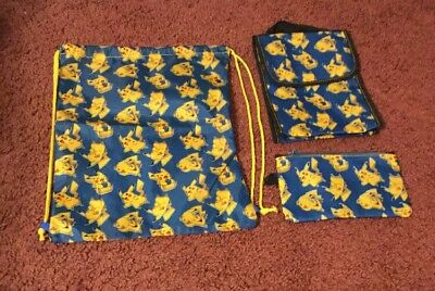 Pokemon Gym Bag, Lunch Box, And Pencil Pouch