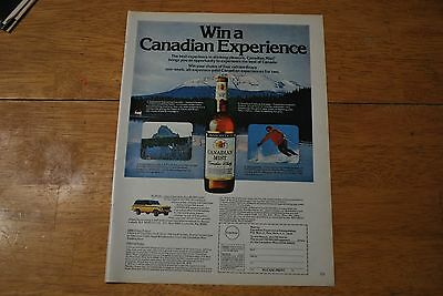 Canadian Mist Whisky 1979 Playboy Magazine ad - Excellent