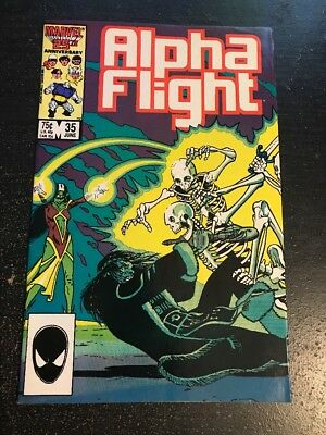 Alpha Flight#35 Incredible Condition 9.0(1986) 1st David Ross Art!!