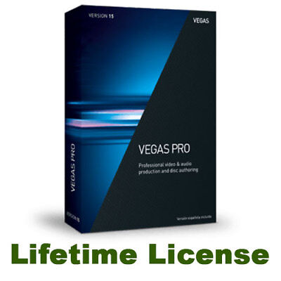 Sony Vegas Pro 15 *NEW* LIFETIME License - PC Full Version - Fasti Delivery!