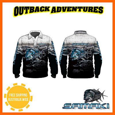 Samaki Gt Long Sleeve Fishing Shirt - Childrens Kid Size - 6