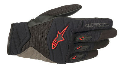 Alpinestars SHORE Leather/Textile/Mesh Riding Gloves (Black/Red) Choose Size
