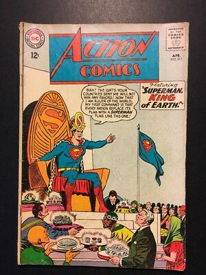 Action Comics #311, DC, Apr. 1964, Good condition, Free Shipping!!!
