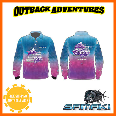 SAMAKI DREAMCATCHER LONG SLEEVE FISHING SHIRT - ADULT SIZE M ladies MEDIUM 10-12