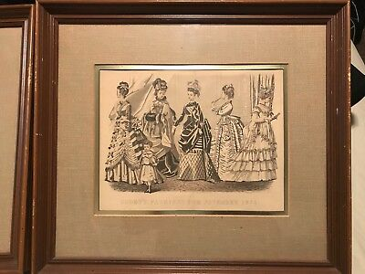GODEY'S FASHION PRINT- Framed, Very Clean & Well Kept