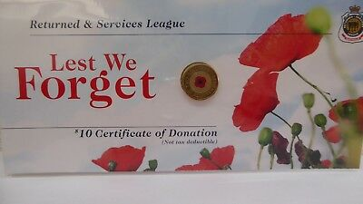 2012 $2 Dollar Red Poppy Lest We Forget Original Cards Uncirculated Unopened