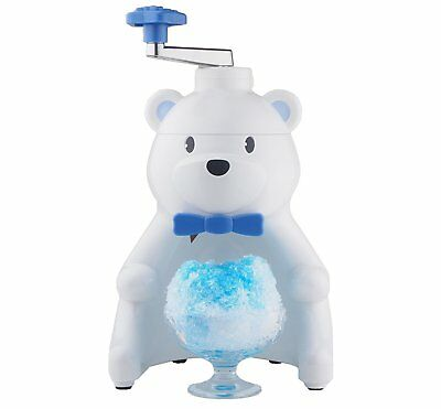 Pearl Metal Manual Fluffy Shaved Ice Maker White Polar Bear Kakigori Snow Cone