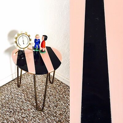 Tripod Hairpin Table Mid Century Plant Display Side End Table Vintage Pink Black