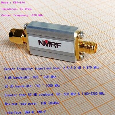 NEW 870 (840 ~ 900) MHz band-pass filter, SMA interface