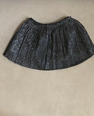 Girls Black And Silver Sparkle Layered Skirt With Bloomers Size 12M Cat And Jack