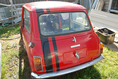 mini leyland 1974 unfinished project, complete car. running.