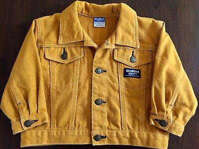 OSHKOSH B'gosh JACKET Size 2 Brush Soft Denim Yellow / Gold BOY or GIRL as new