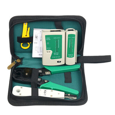 5 in 1 Professional Cable Network Computer Maintenance Repair Tools Kit AU Fast