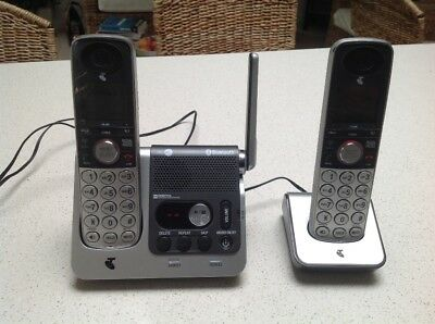 Telstra 9750BT Twin Handset Cordless Phone - with Answering Machine - DECT