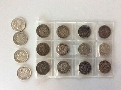 16 coins shilling