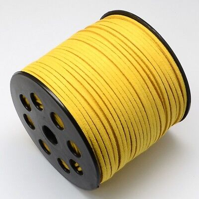 1 M Faux Suede Cord Leather Jewelry Making Beading Thread  Lace GOLD(R007-1061)