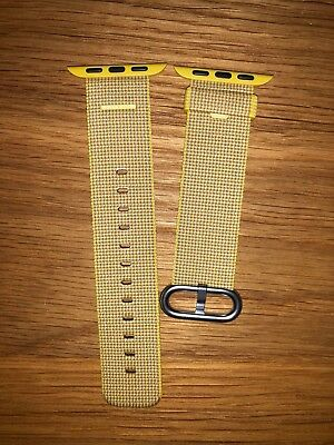 Authentic Original Brand New Apple Watch Woven Nylon Wrist Band 38mm Yellow